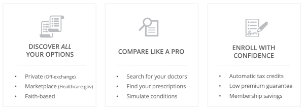 We use data and design to put you in command of your health insurance